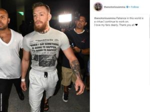 105987821 mcgregor insta 300x224 - McGregor charged for smashing a fan's phone