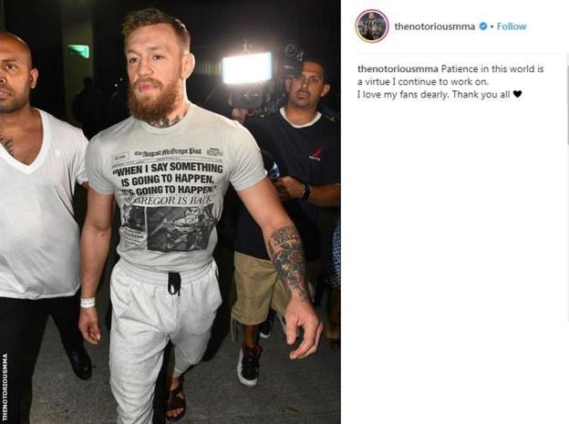 105987821 mcgregor insta - McGregor charged for smashing a fan's phone