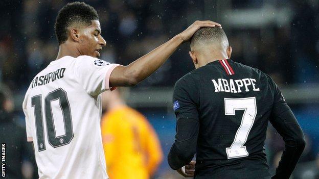 Rashford - Rashford Consoles 'Crying' Mbappe after PSG Ouster