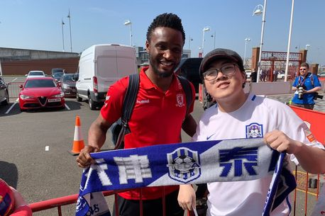 mikel and fan - Chinese fan adopts Middlesbrough because of Mikel