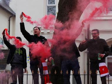 Liverpool fans 380 Reuters - Liverpool vs Barcelona: Fans riot ahead showdown