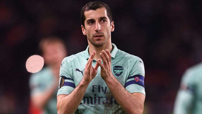 arsenal - Azerbaijan indicates Mkhitaryan can play in Europa final
