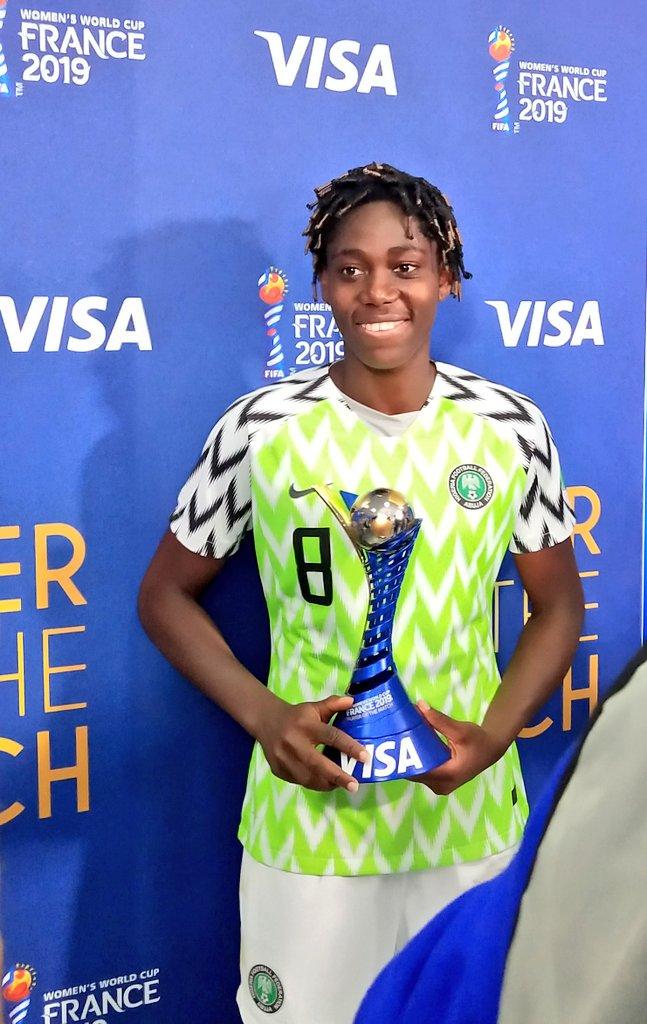 oshoala - Oshoala wins Player of The Match after Falcons victory