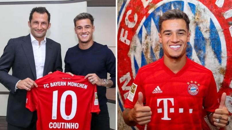 Bayern Munich sign Coutinho on loan