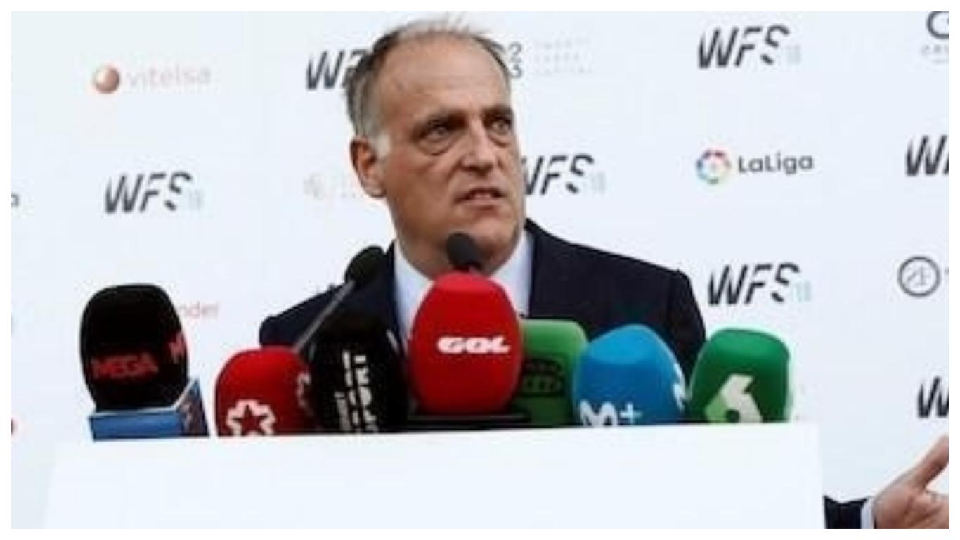 Tebas coll - Tebas re-elected unopposed as La Liga president