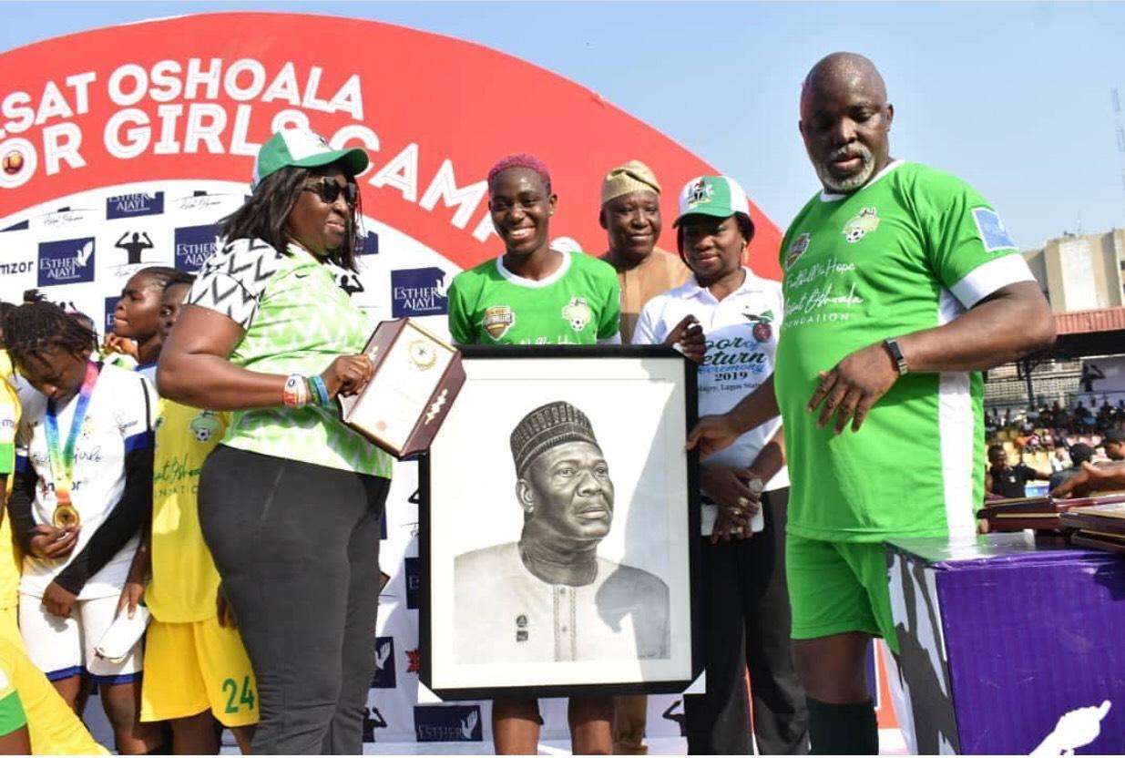 asisat - Football4Girls Clinic: Pinnick, Dabiri charge sport stars to emulate Oshoala