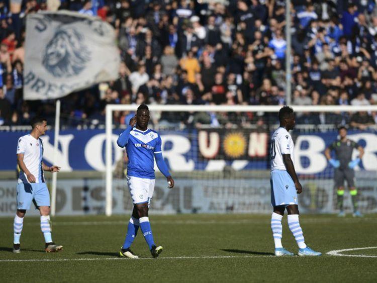 Balotelli3 - Racist chant at Balotelli: Lazio escapes stadium ban gets $22,000 fine.