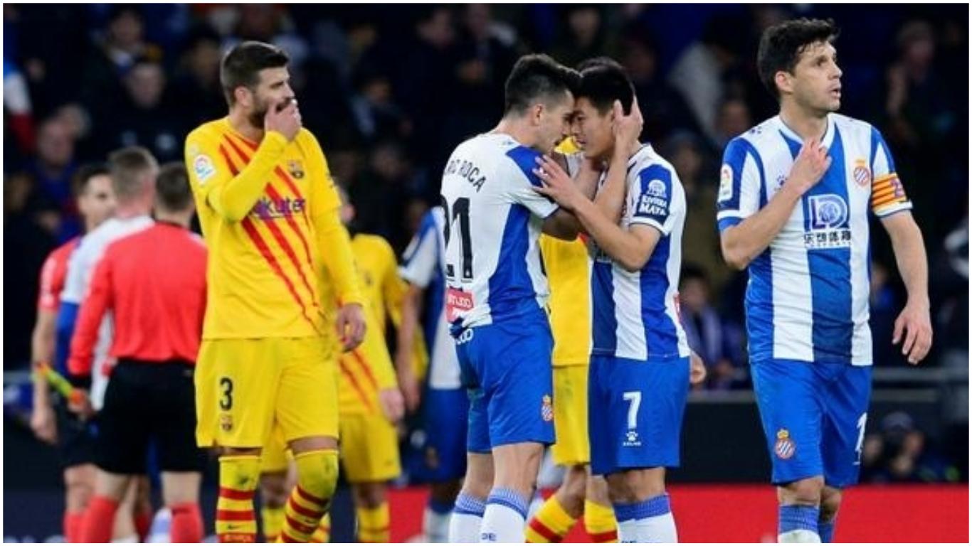 barca coll - La Liga: Lei strikes late as Espanyol hold 10-man Barcelona