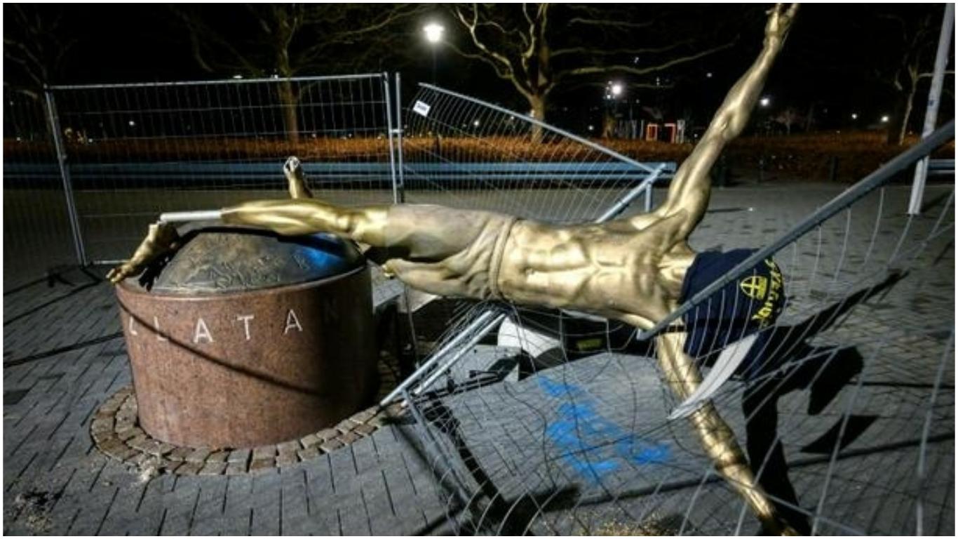 ibra coll 1 - Zlatan Ibrahimovic statue vandalised again