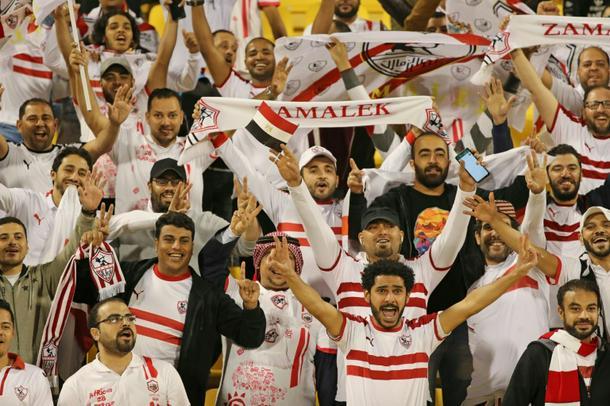 Zamalek fans watch their sides Super Cup clash against Esperance Sportive in Doha - Zamalek dominate Esperance in CAF Super Cup