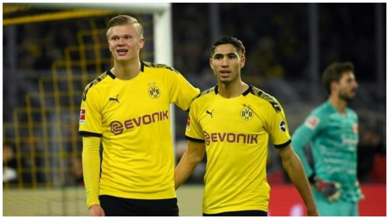 ha coll 1 - Bundesliga: Haaland extends Dortmund tally to nine in six games