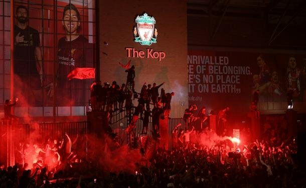 Liverpool face Anfield ban if fans don't stop partying in streets