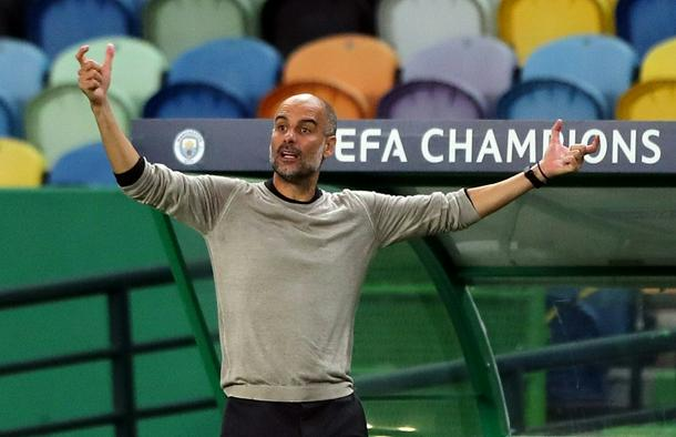 Pep Guardiola is yet to progress beyond the Champions League quarter-finals in four years as Manchester City manager