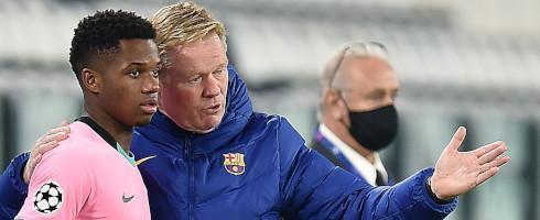 Koeman appreciates Barcelona remarkable performance against Juve