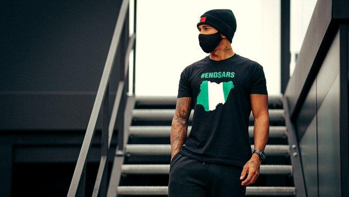 Formula 1 legend shows support to #EndSARS campaign