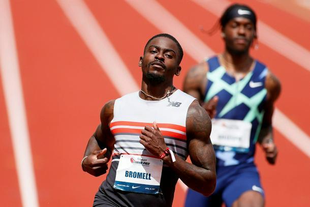 US sprinter Trayvon Bromell