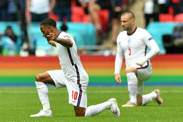 England's men took the knee before every game of Euro 2020