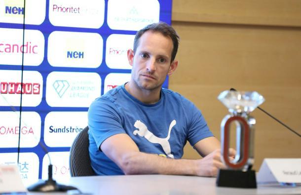 France's pole vaulter Renaud Lavillenie