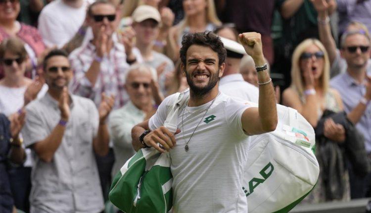 Italy's Berrettini reaches 1st Grand Slam final at Wimbledon