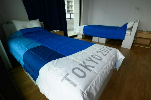 The beds at the Tokyo Olympic Village are made of recyclable cardboard