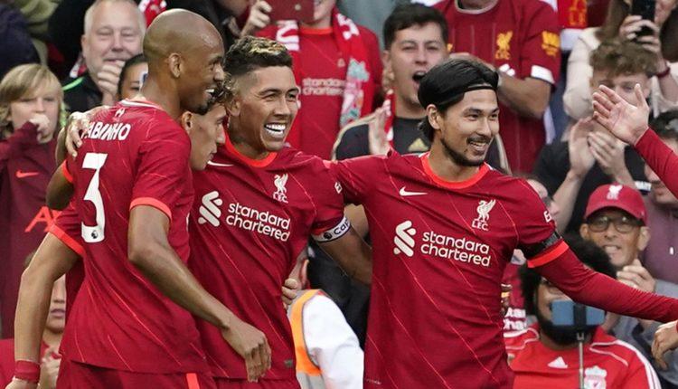 Roberto Firmino scored twice in Liverpool's win