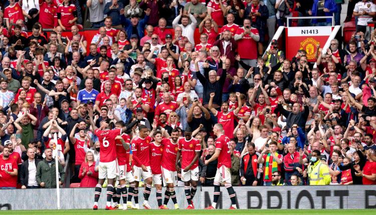 Manchester United, ManU v Leeds United – Premier League – Old Trafford Manchester United s Bruno Fernandes celebrates a
