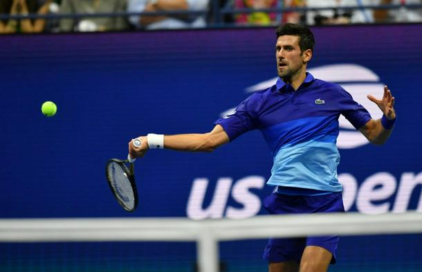 Serbia's Novak Djokovic defeated American Jenson Brooksby on Monday at the US Open to move within three matches of completing the first men's singles calendar-year Grand Slam since 1969