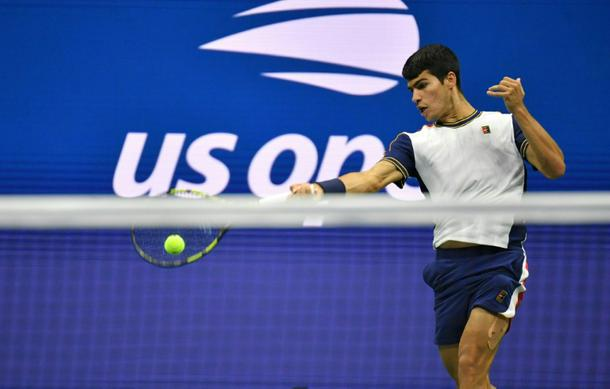 Spain's Carlos Alcaraz was forced to retire from his US Open quarter-final against Canada's Felix Auger-Aliassime with an adductor injury