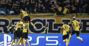 Young boys after scoring against Man Utd