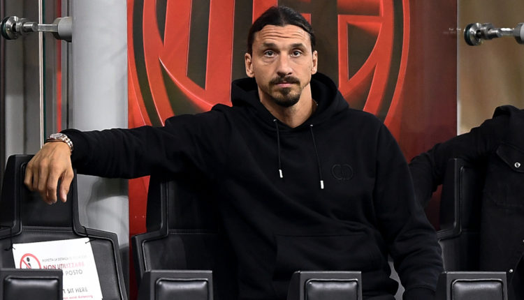 Zlatan Ibrahimovic of AC Milan attends the Serie A football